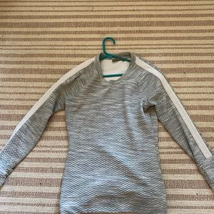 Athleta sweatshirt in textured gray